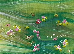 Green blossom float #1
